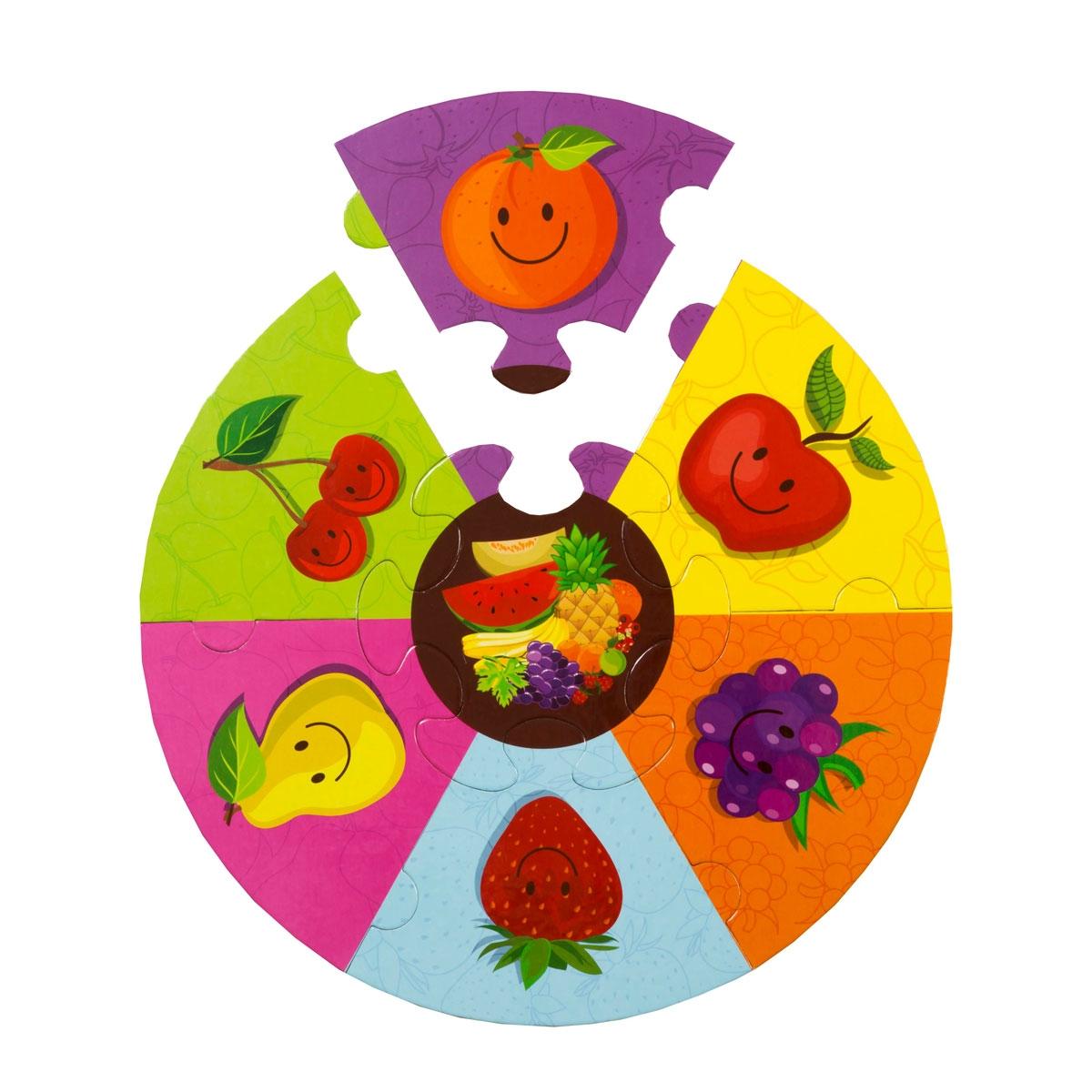 Yuvarlak Puzzle - Meyveler