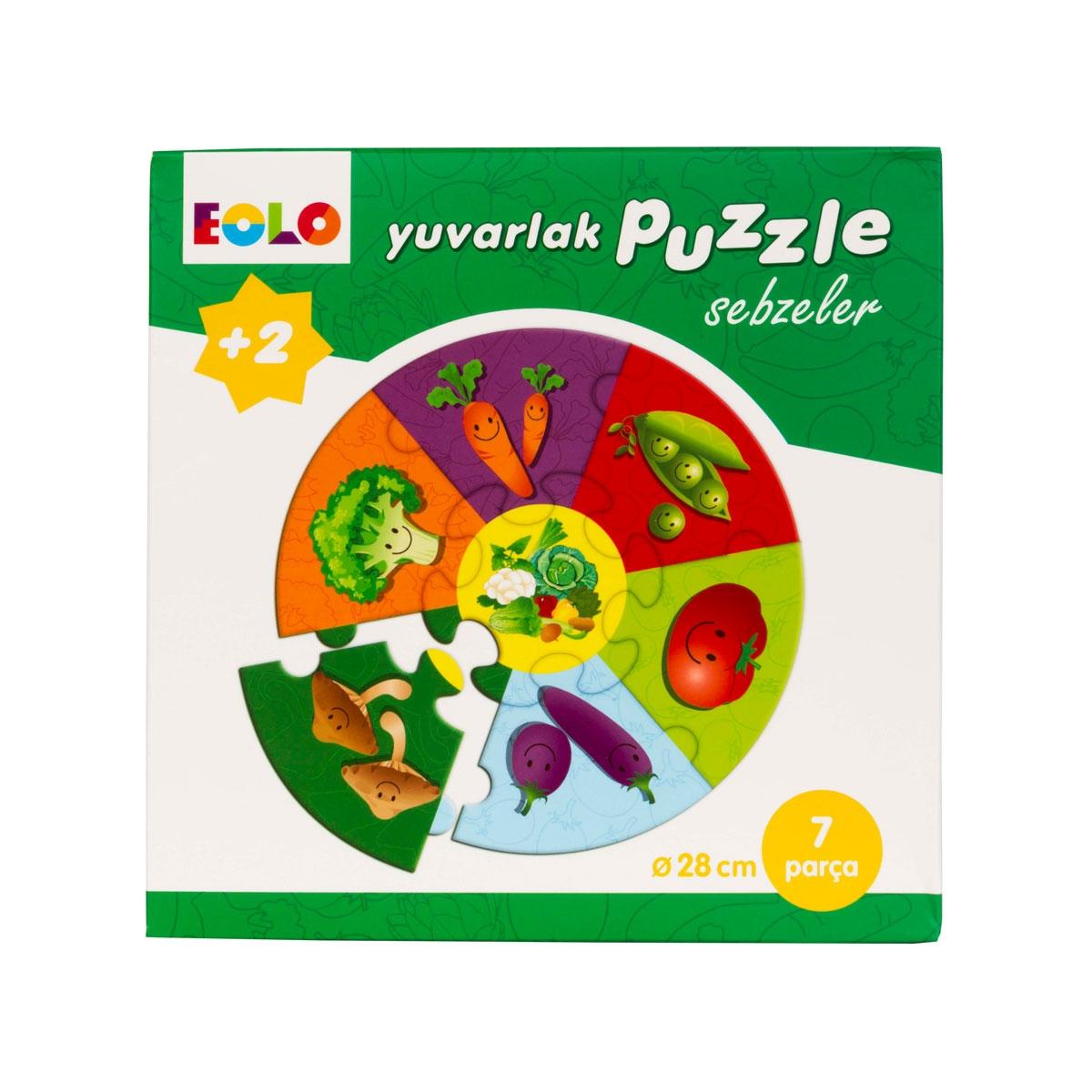 Yuvarlak Puzzle - Sebzeler