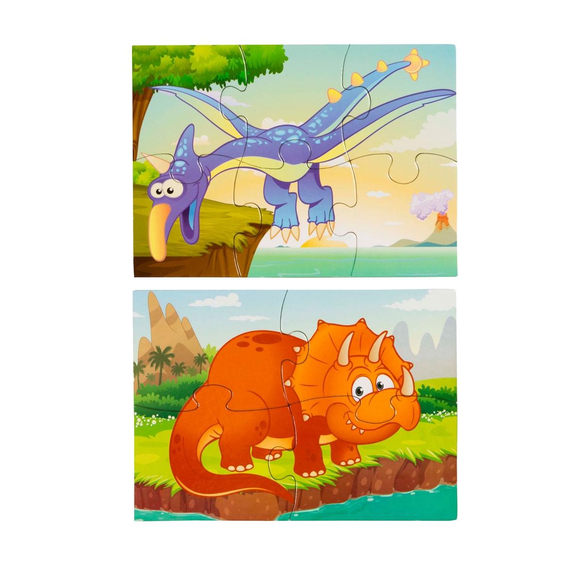 4 Mini Puzzle - Cheerful Dinosaurs