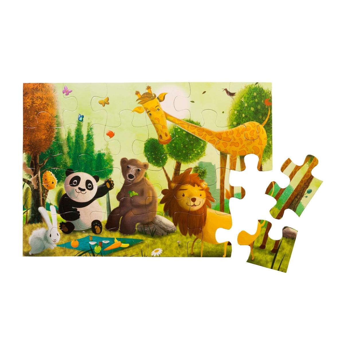 24 Parça Yer Puzzle- Ormanda