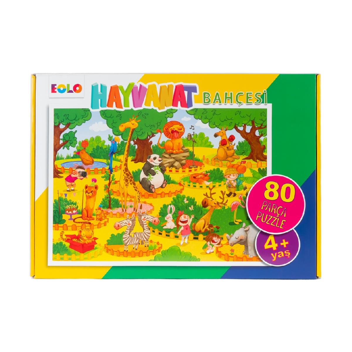 80 Parça Yer Puzzle – Hayvanat Bahçesi