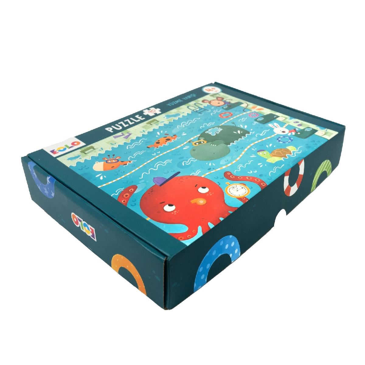 40 Parça Yer Puzzle – Yüzme Yarışı
