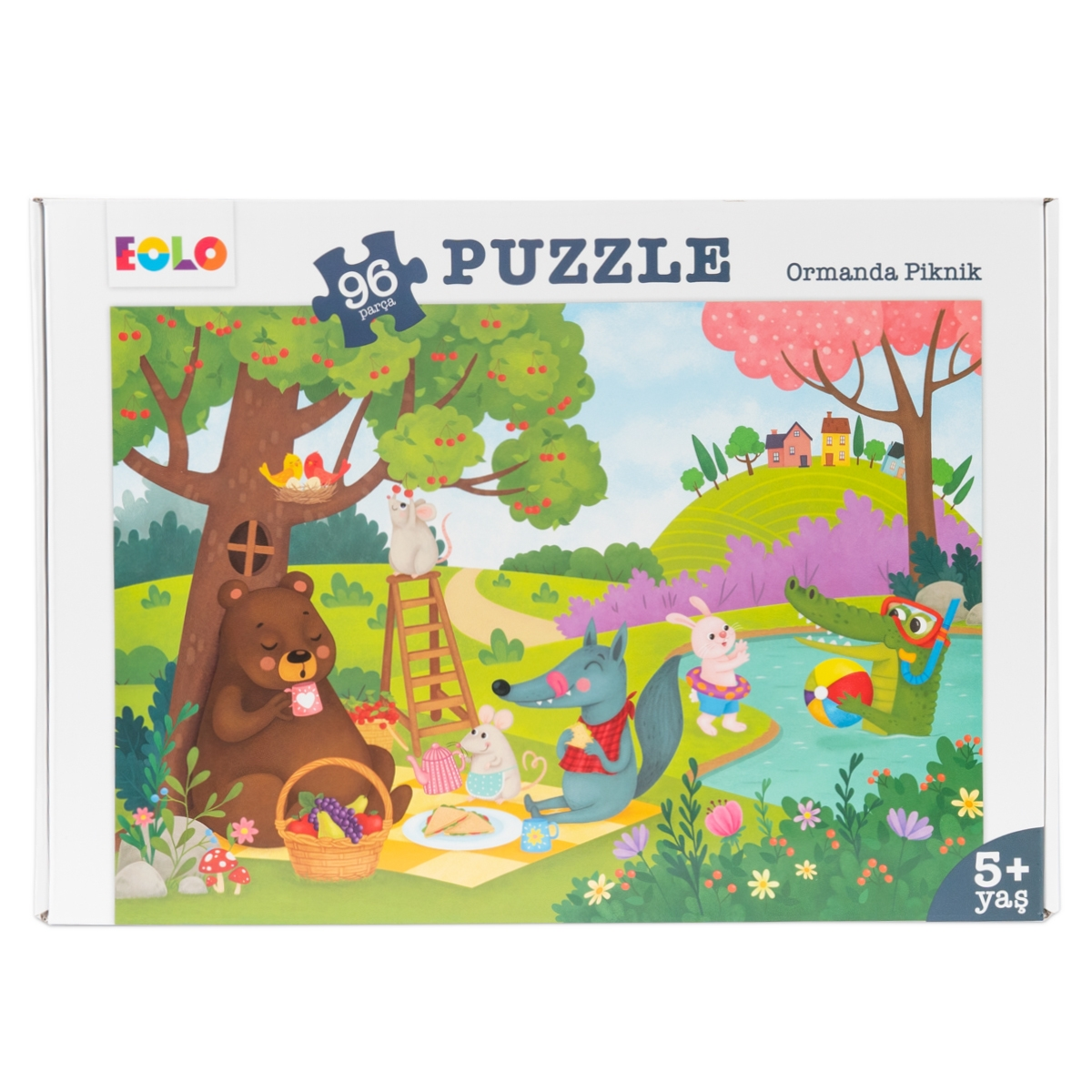 96 Parça Yer Puzzle – Ormanda Piknik